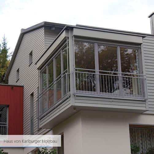 Haus von Karlburger Holzbau orange