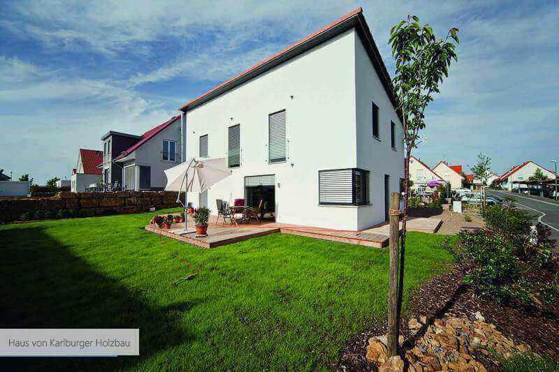 Haus von Karlburger Holzbau weiss