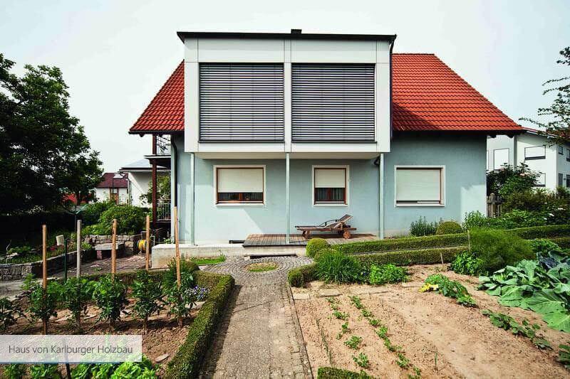 Haus von Karlburger Holzbau vorne