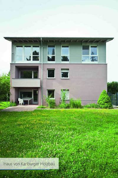 Haus von Karlburger Holzbau grau