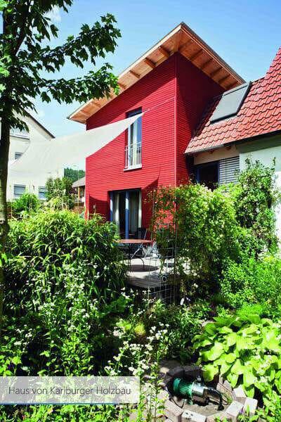 Haus von Karlburger Holzbau grau modern