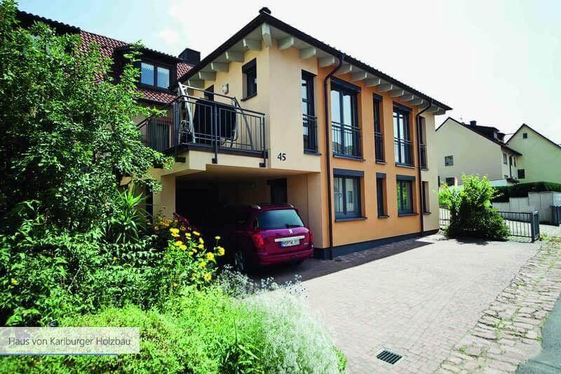 Haus von Karlburger Holzbau Balkon