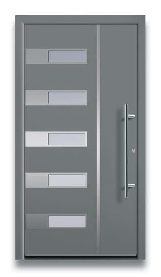 Muster Haustüre in grau
