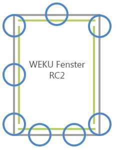 WEKU Fenster RC2