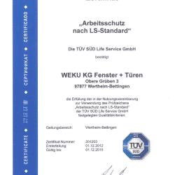 Arbeitsschutz Zertifikat