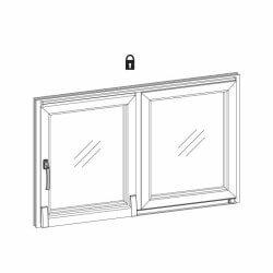 Grafik Softclose Schiebetür - Glasschiebetür geschlossen