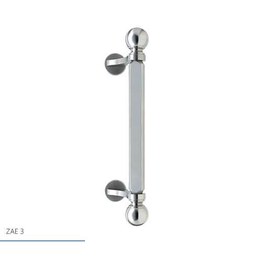 Haustürgriff ZAE3 - Außengriff Edelstahl; Bohrabstand: ca. 230 mm; Gesamtlänge: ca. 330 mm