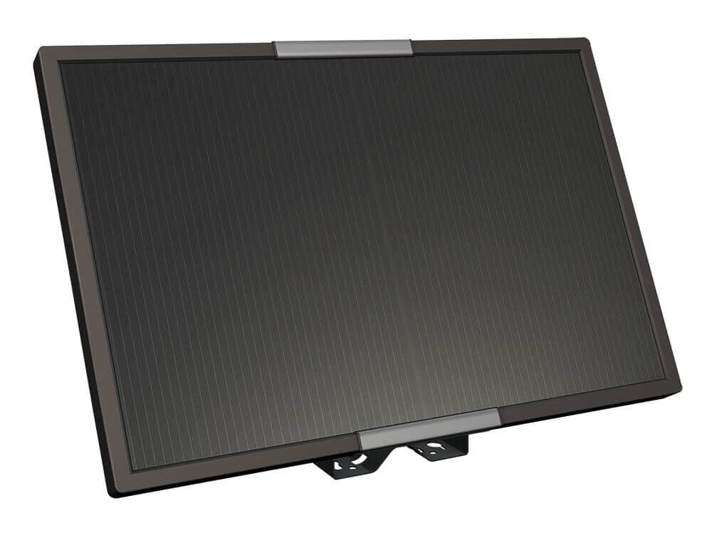 Strom durch eine Solarplatte