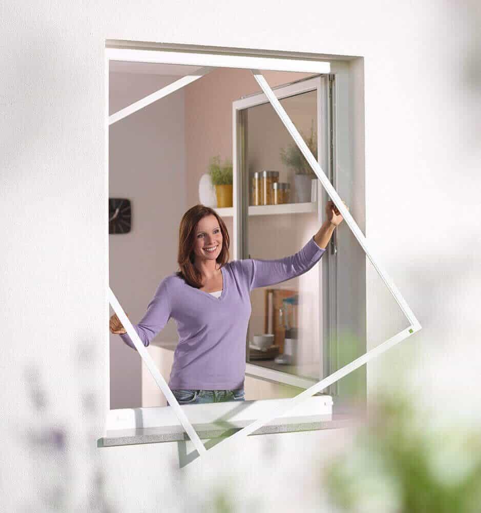 Insektenschutz mit Spannrahmen für Fenster Ansicht