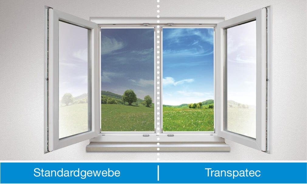 insektenschutz vergleich standardgewebe transpatec 1 - Transpatec