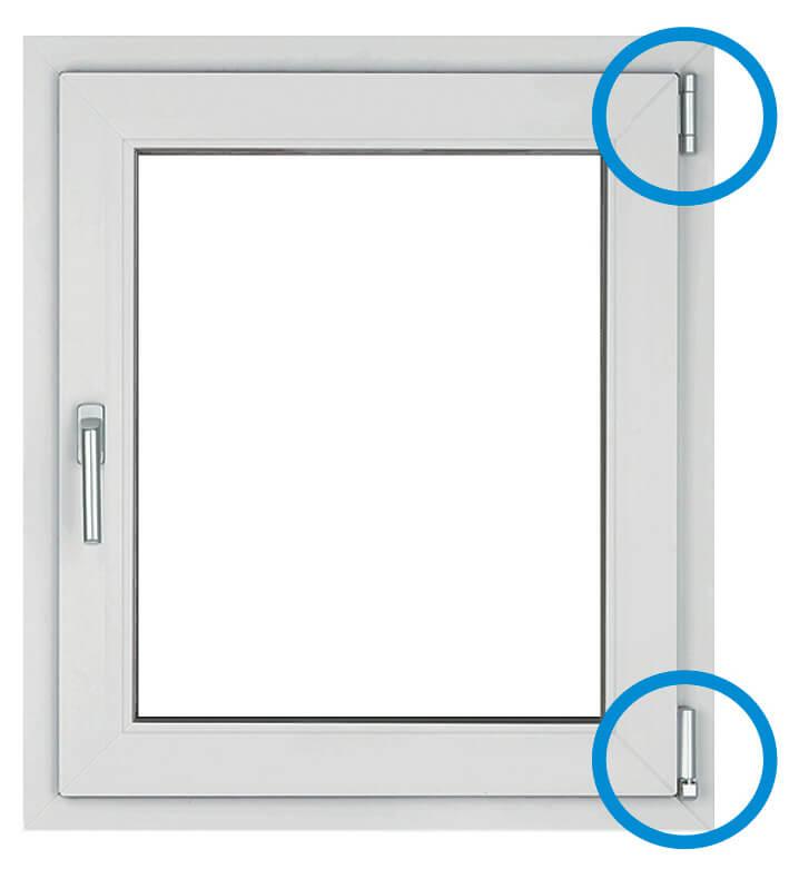 Standardbeschlag eines Fensters
