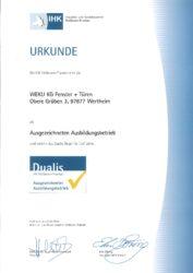 Dualis Urkunde 2019 pdf 177x250 - Zertifikate und Auszeichnungen